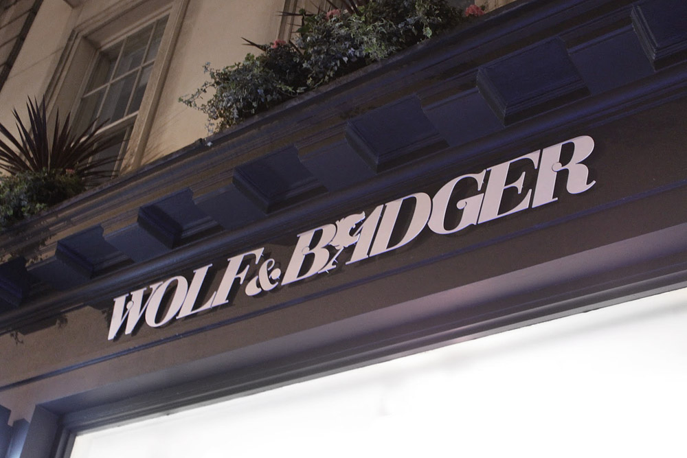 wolf badger identity web site and signage by i shot him. Black Bedroom Furniture Sets. Home Design Ideas